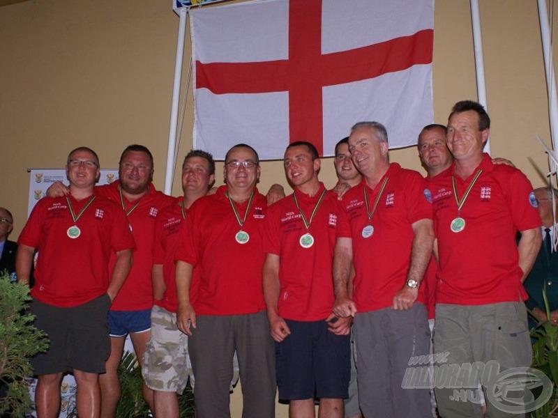 Anglia csapata a második