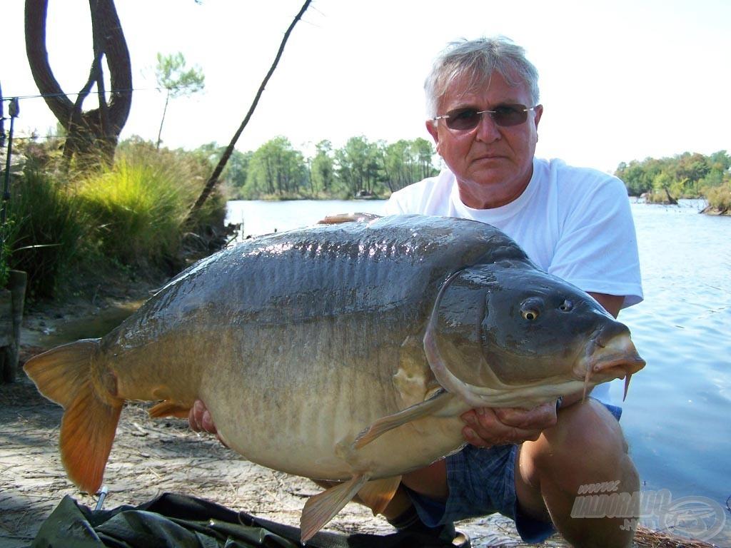 Egy újabb 20 kg feletti példány