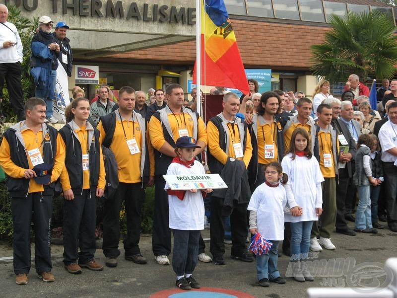 ... debütánsként megjelent Moldávia...