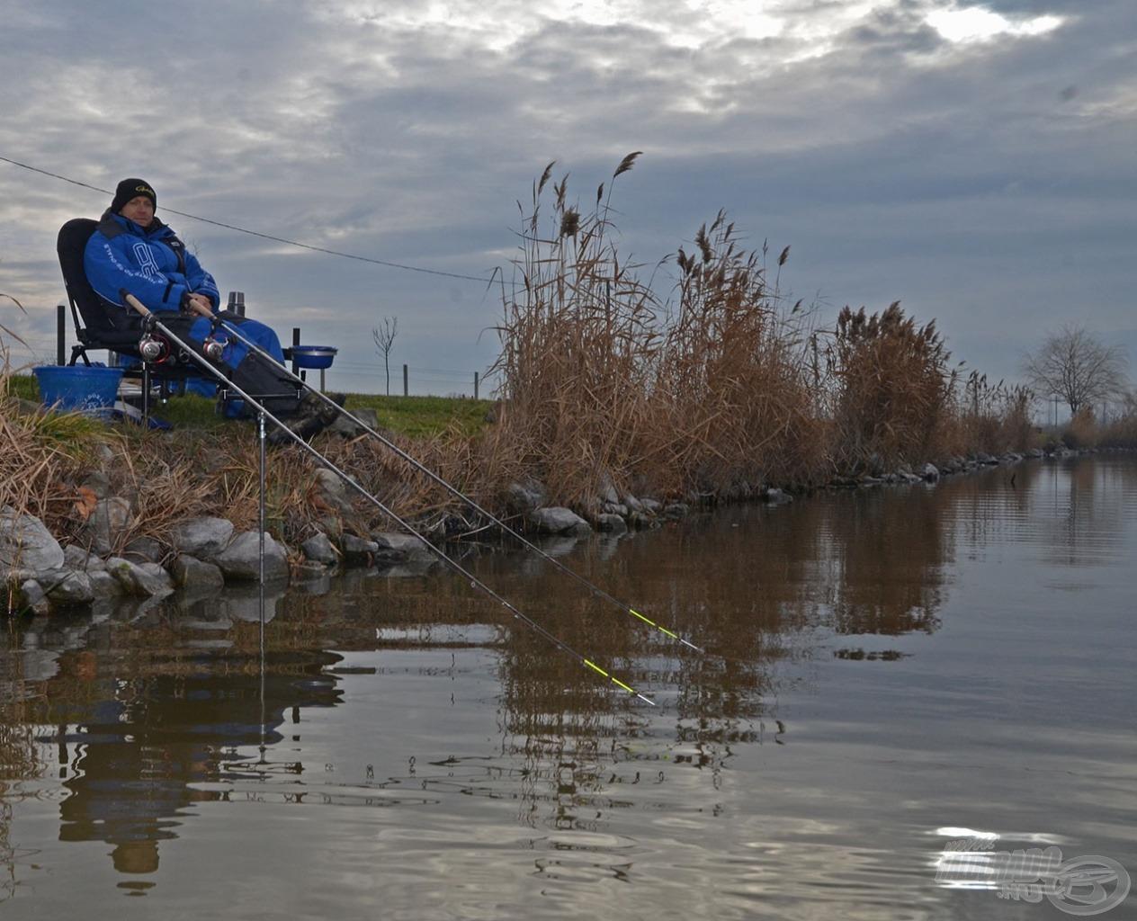 Szinte hihetetlen, de január 2-án is nyitott, horgászatra alkalmas vízfelszín fogadott egyik kedvenc tavamon, az Ezüst-tó Horgászcentrumban