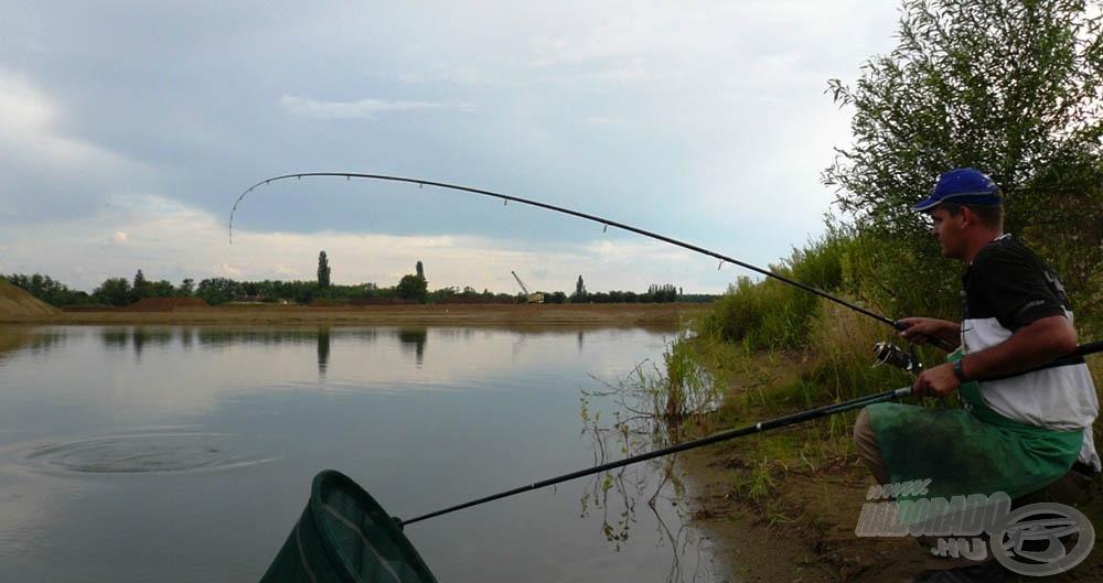A pálya végében már nyugodtan fáraszthattam a halat