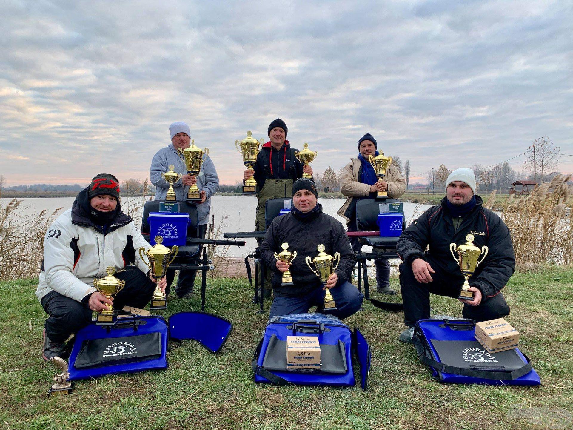 A 4 évszak Haldorádó Method Feeder Kupa 2018. évi díjazottjai