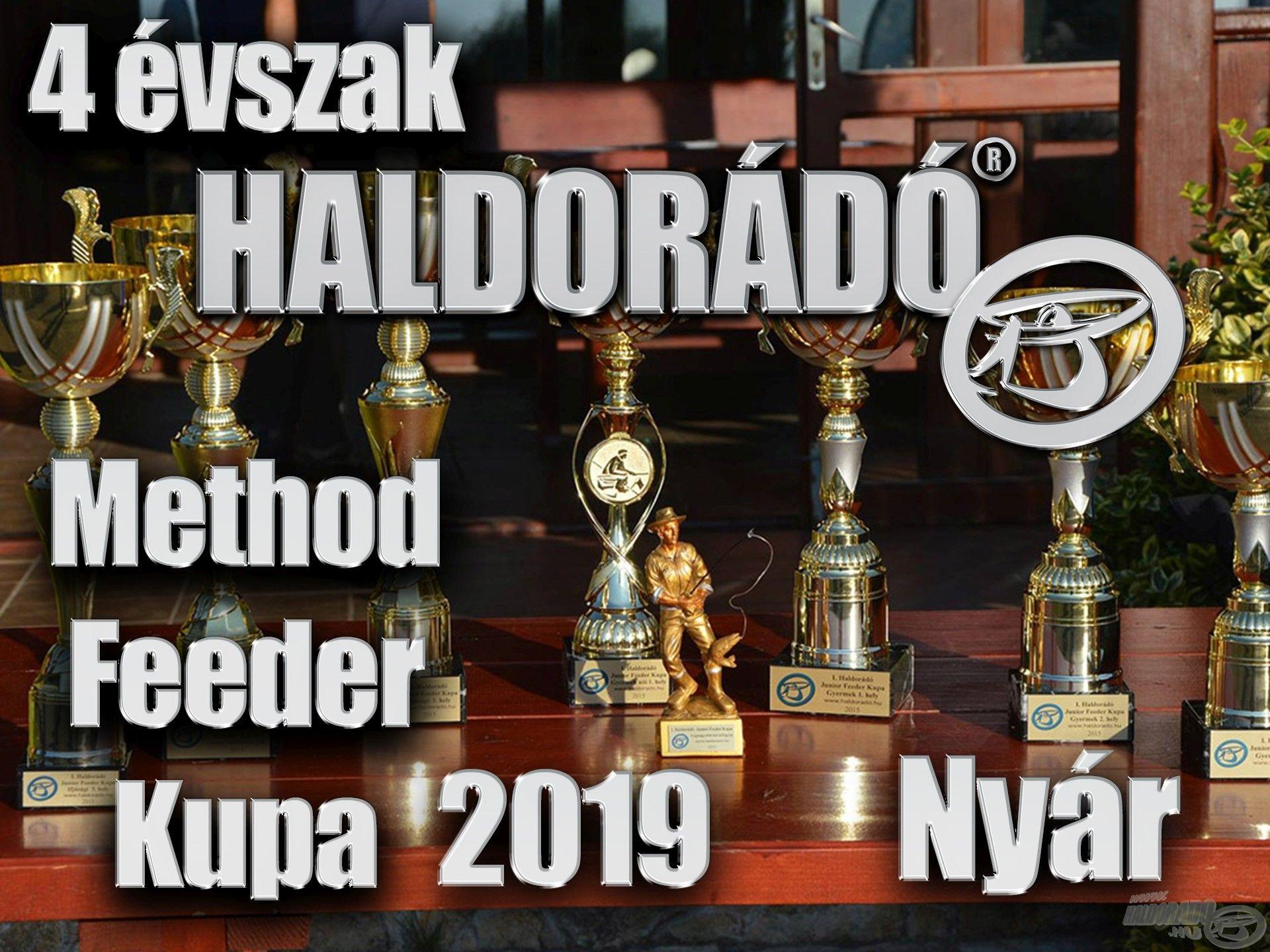 4 évszak Haldorádó Method Feeder Kupa 2019 versenysorozat kiírás – Nyár