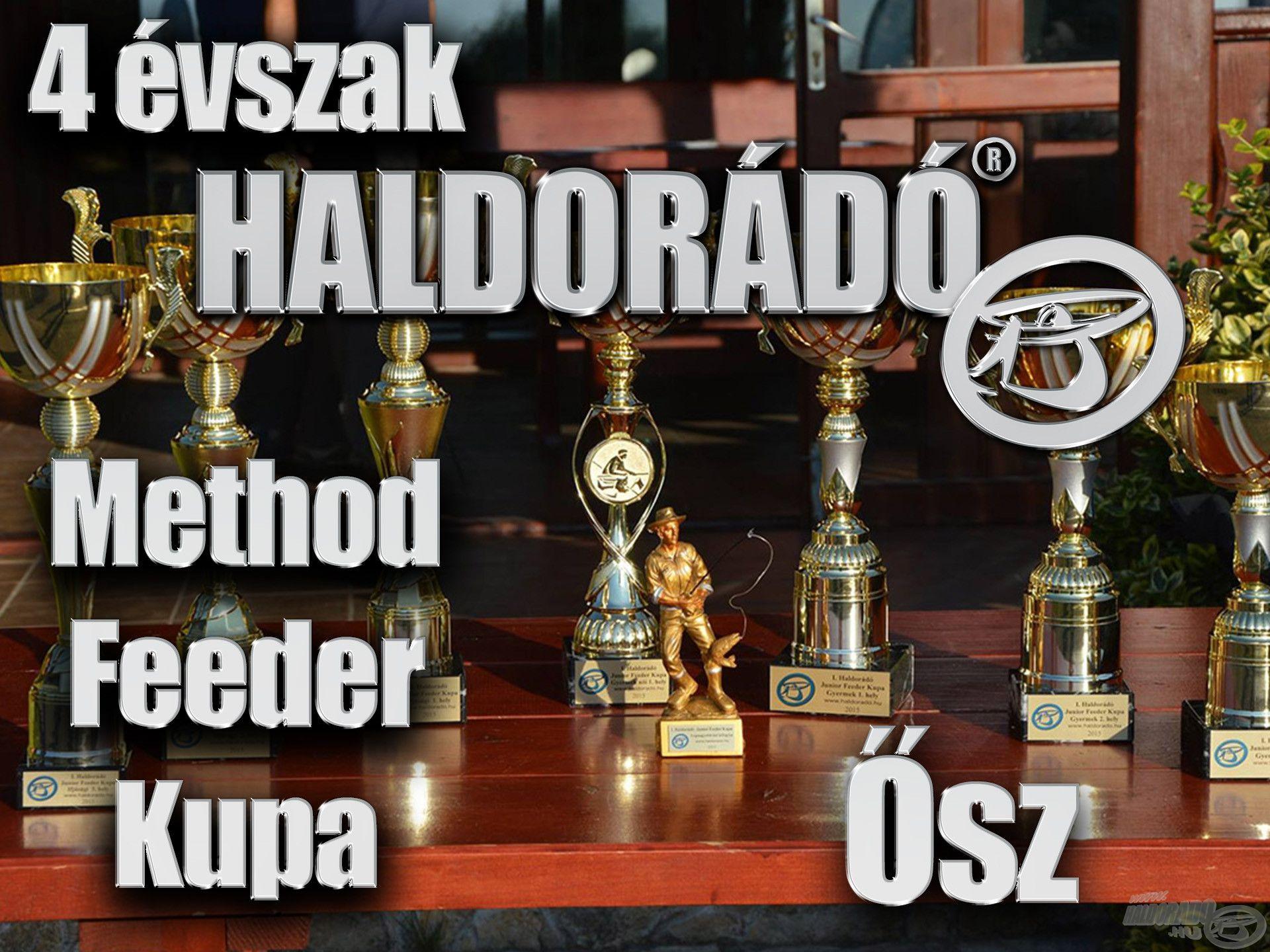4 évszak Haldorádó Method Feeder Kupa 2019 versenysorozat kiírás – Ősz