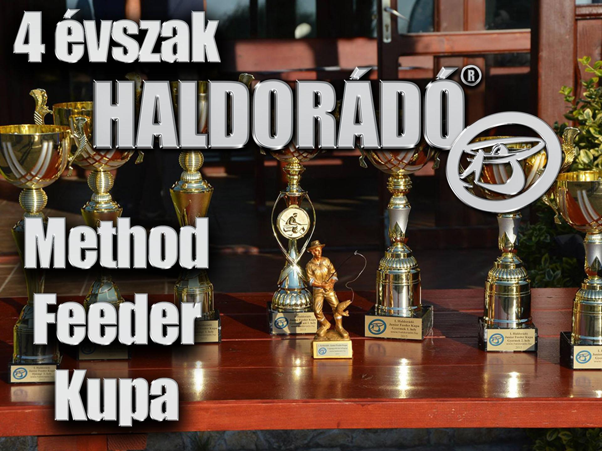 4 évszak Haldorádó Method Feeder Kupa versenysorozat kiírás