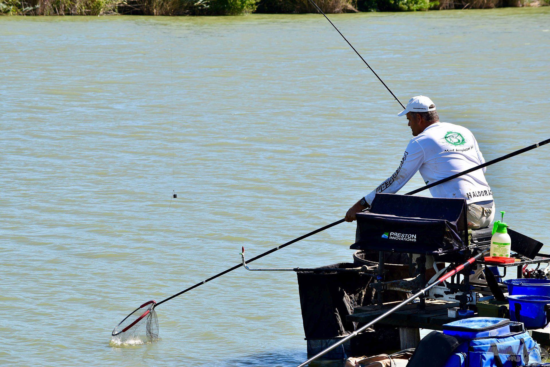 Folyamatos, aktív horgászat. Ezt szeretem a versenyhorgászatban! (fotó: MOHOSZ)