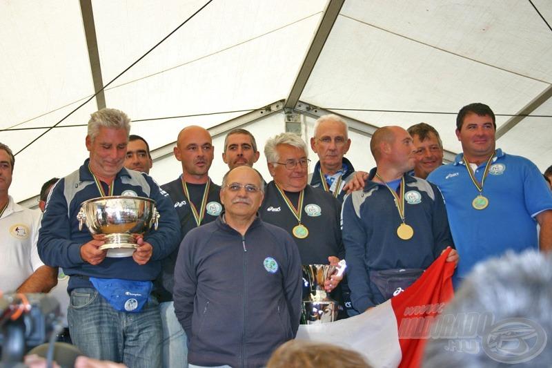 A győztes olasz csapat