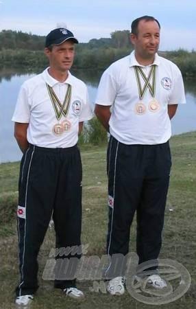 Ivan Kiralj és Petar Patarčić a világbajnoki aranyéremmel