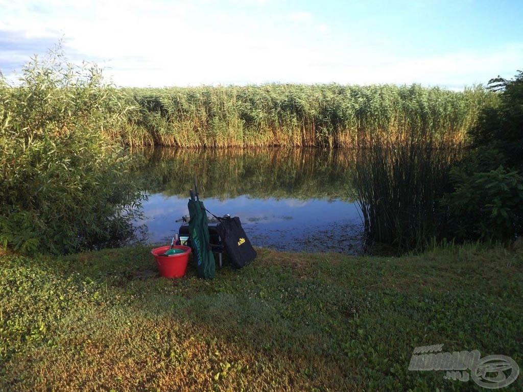 Íme, a horgászhelyem…
