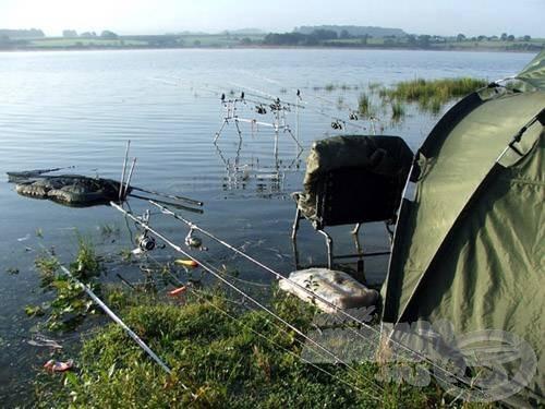 Egy ilyen horgászhely közelről…