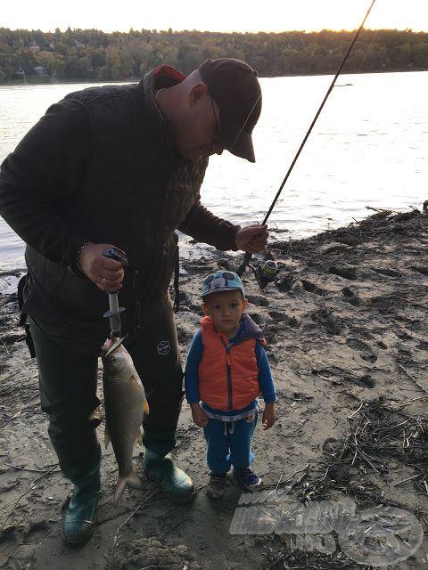 Idén ez a balin is bekerült a nemes halak kategóriába, Bence fiam itt 92 cm magas