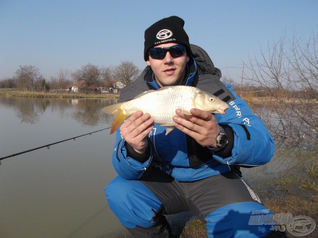 A nap első hala és az a méret, amiből rengeteg van itt