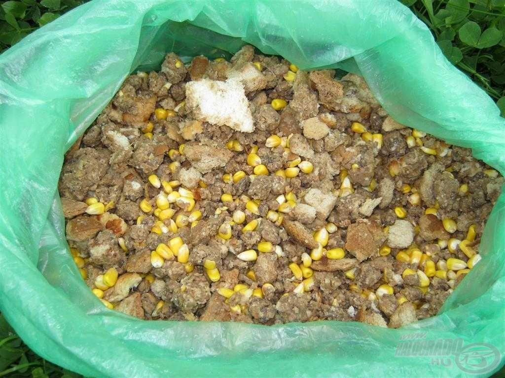 Pusztán kenyeret és erjesztett kukoricát töltöttem a kosárba