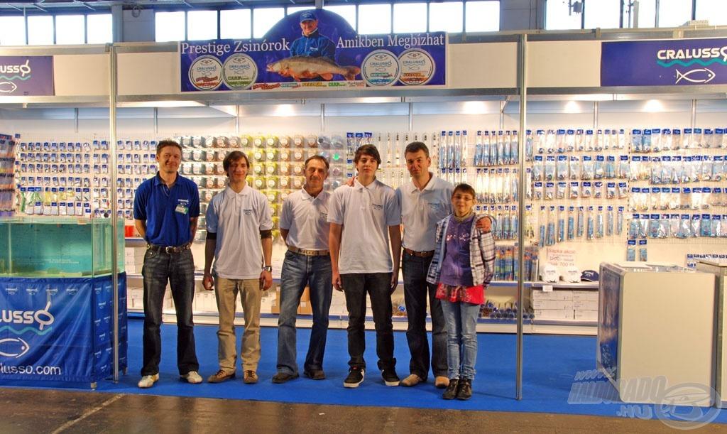 A Cralusso csapata örömmel várta az érdeklődőket EFTTEX díjas standján, a horgászkiállításokon