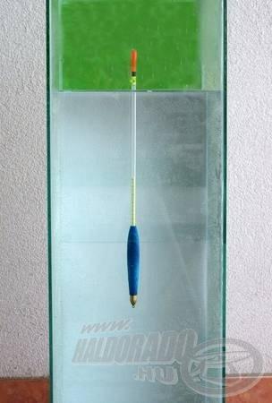 Az úszót az önsúlyokkal terhelve helyezem a súlyozáshoz használt medencébe