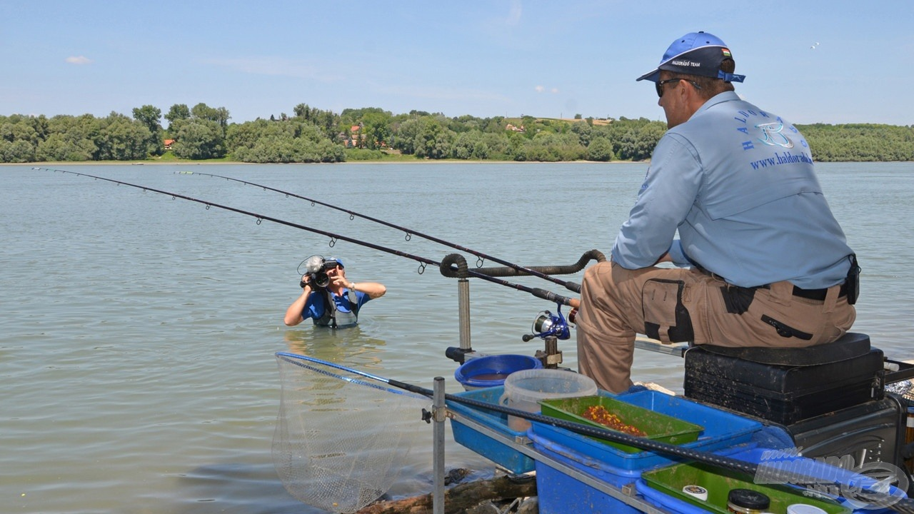 E forgatás után indultam Zolihoz horgászni