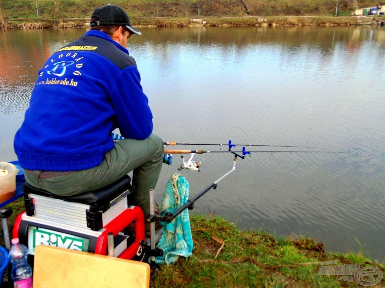A téli horgászatokon van idő gondolkodni, és próbálkozni
