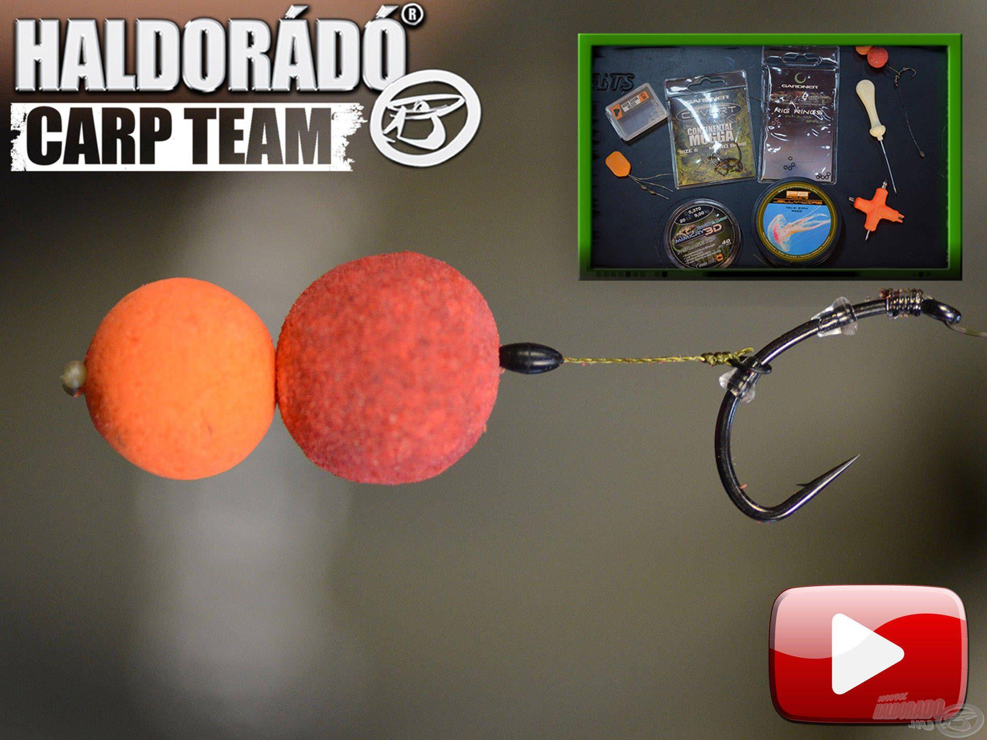 A Haldorádó Carp Team kötései, végszerelékei 7. rész – Pop Up rig, azaz lebegő csalis előke egy kicsit másként