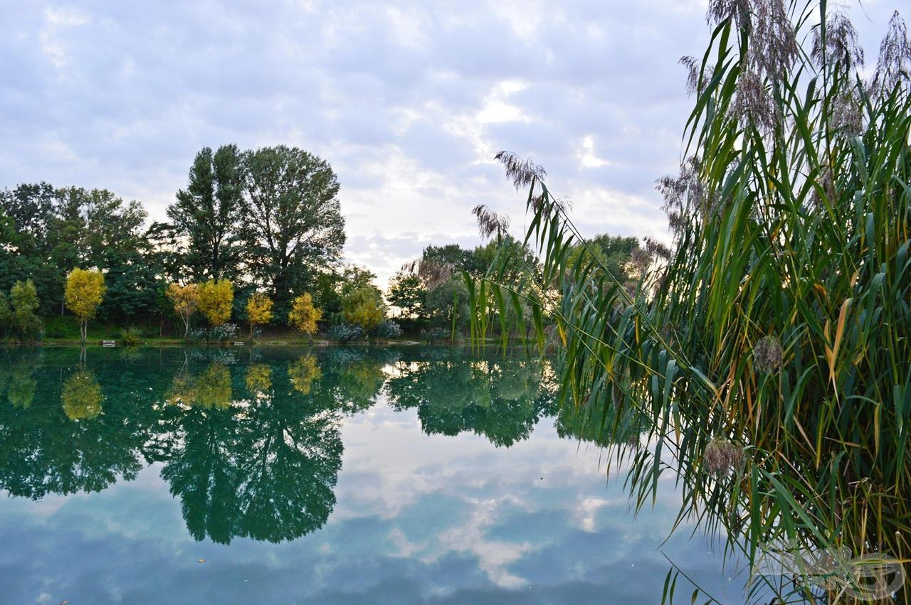 Íme, a festői szépségű helyi tó…