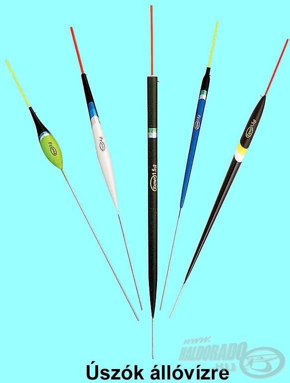A ceruza formájú úszók elsősorban nyugodt, szélcsendes időben használatosak