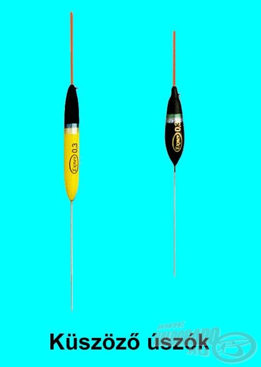 Elsősorban küsz és apró bodorka horgászatához - rövid, 2,5-4 méteres spiccbotokkal - használjuk ezeket az úszókat