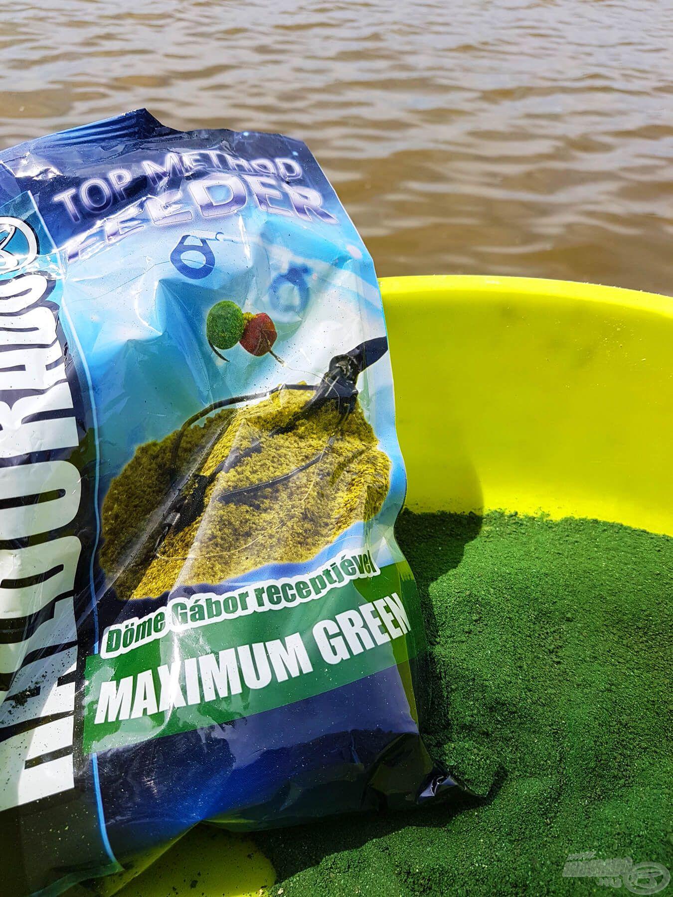 A Maximum Green nemcsak intenzív halas illatával, de brutális zöld felhőjével is gyorsan a horgunk köré vonzza a halat…