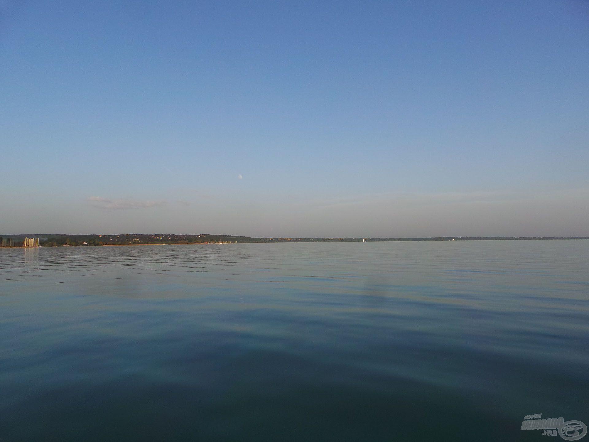 A nyílt vízről a partszéli részek felé vettük az irányt