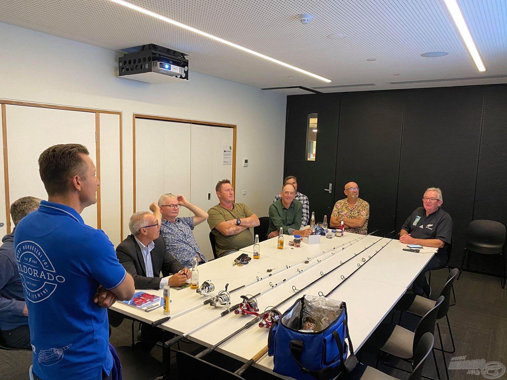 A Melbourne-i Horgász Klub megtisztelő meghívásának eleget téve egy előadást tartottam a magyar feeder horgászatról és az elért eredményeinkről. Nem titkolt célja az Ausztrál Horgász Szövetségnek, hogy a közeljövőben Feeder VB-t rendezzenek ezen a földrészen is!