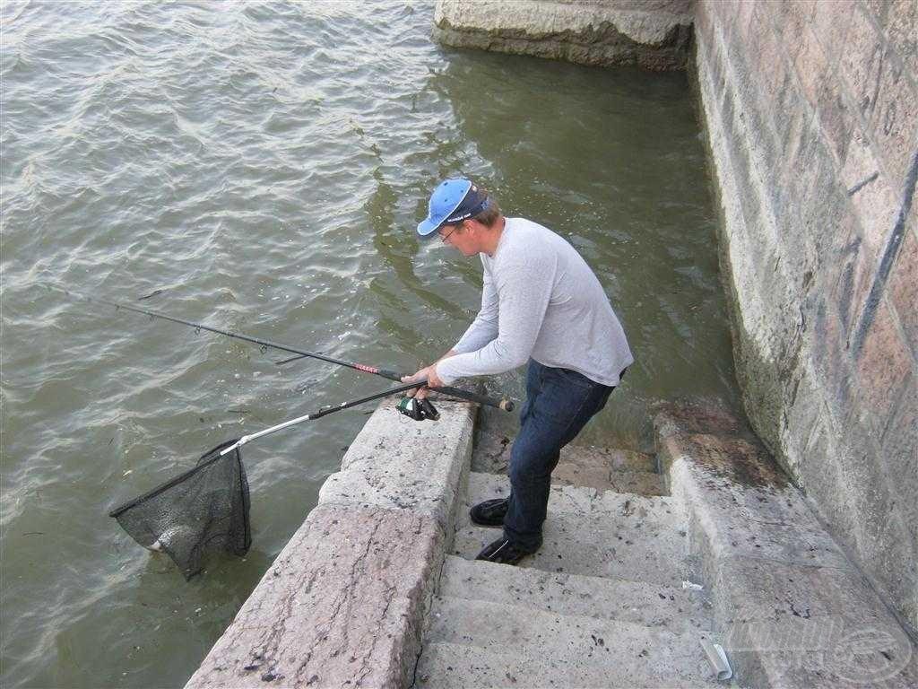 … úriember módjára meg lehet meríteni! Nem felhúzni a falon, mint azt a Jászai Mari téren látni sok horgásztól!