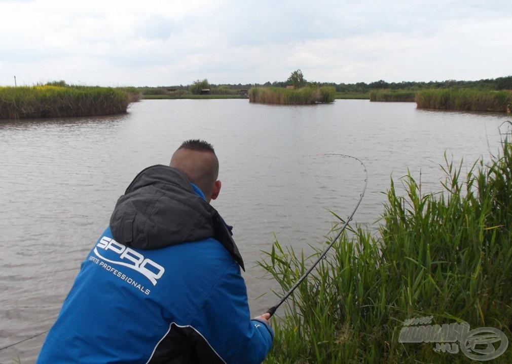 A botom ezen a napon sűrűn volt karikában, tökéletes társam volt a nagy halak elleni küzdelemben