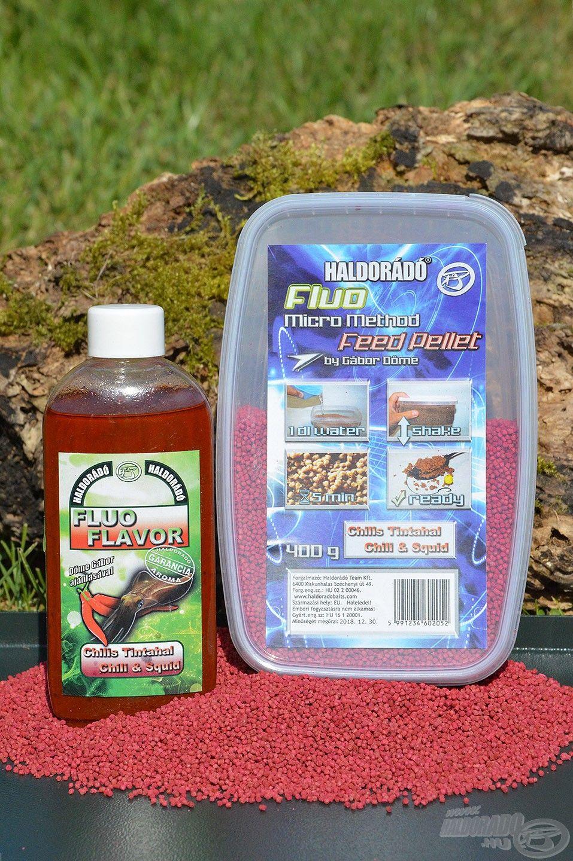 Tökéletes kosárba való a Chilis Tintahal Fluo Micro Method Feed Pellet, némi ízazonos Fluo Flavor aromával tuningolva