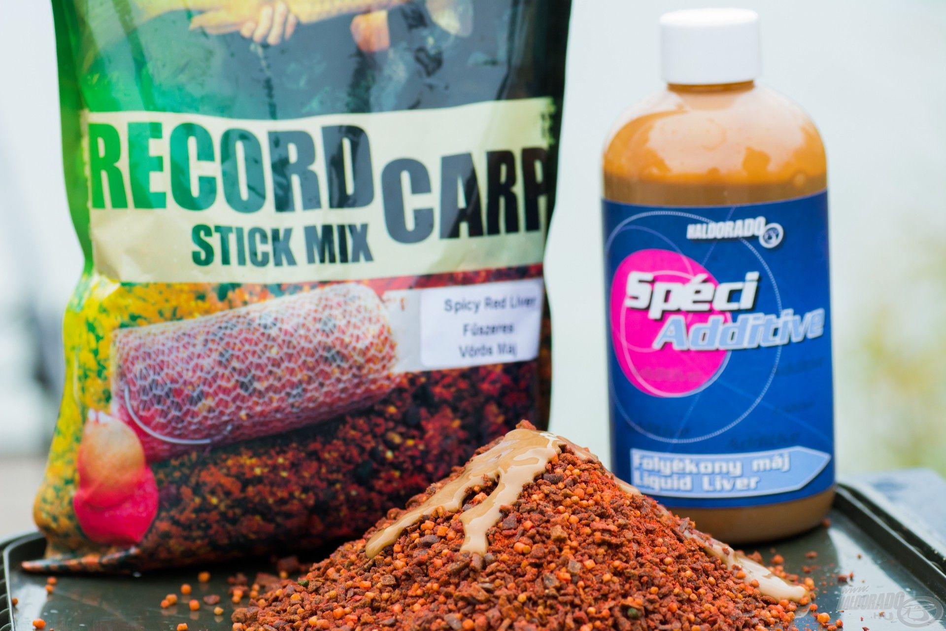 Az őszi kereső horgászatok alkalmával is a Fűszeres Vörös Máj Stick Mix az első nálam