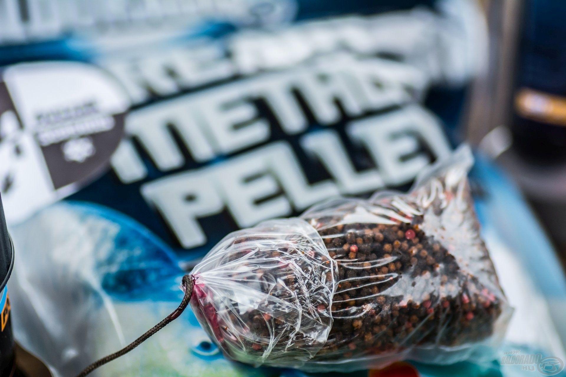 Én legtöbbször előnedvesített, horgászatra kész pelleteket használok a Ready Method Pellet családból