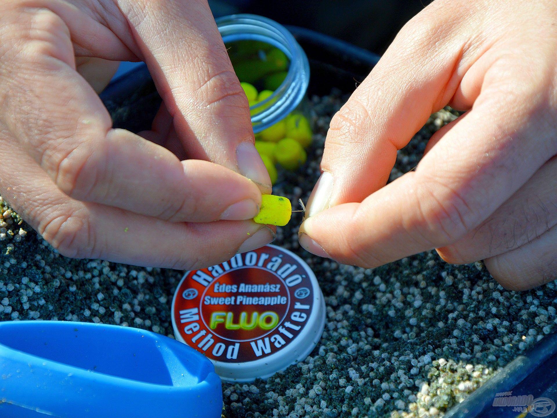 A 10 mm-es Fine csalitüske garantáltan nem repeszti meg a Fluo Method Wafter csalit
