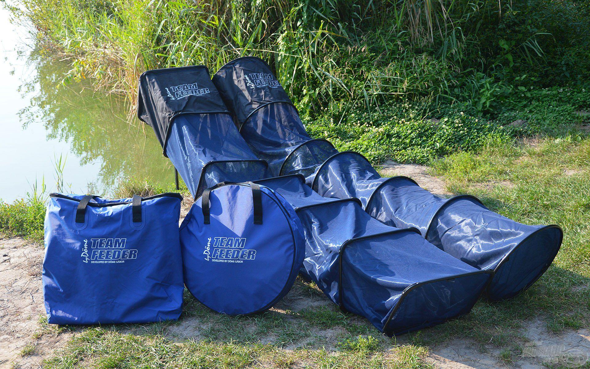A kiváló minőségű TEAM FEEDER EVA Száktartó táskák a By Döme táskakollekció egyik leghasznosabb szériája! Ahogy a versenyszákok, ezek is két különféle kialakítással, szögletes és kerek formában készülnek