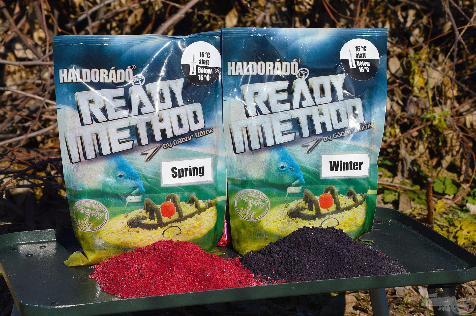 A Ready Method Winter és Spring tökéletes etetőanyagok a tavaszi hideg vagy már felmelegedő vizekre
