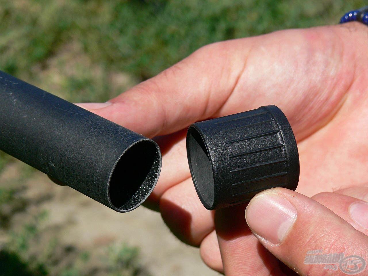 A Master Carp rakós merítő nyélhez 2 db gumi gyorskupak tartozik, melyek pillanatok alatt levehetők és felhelyezhetők, így meggyorsítják a nyél összerakását, szétszedését