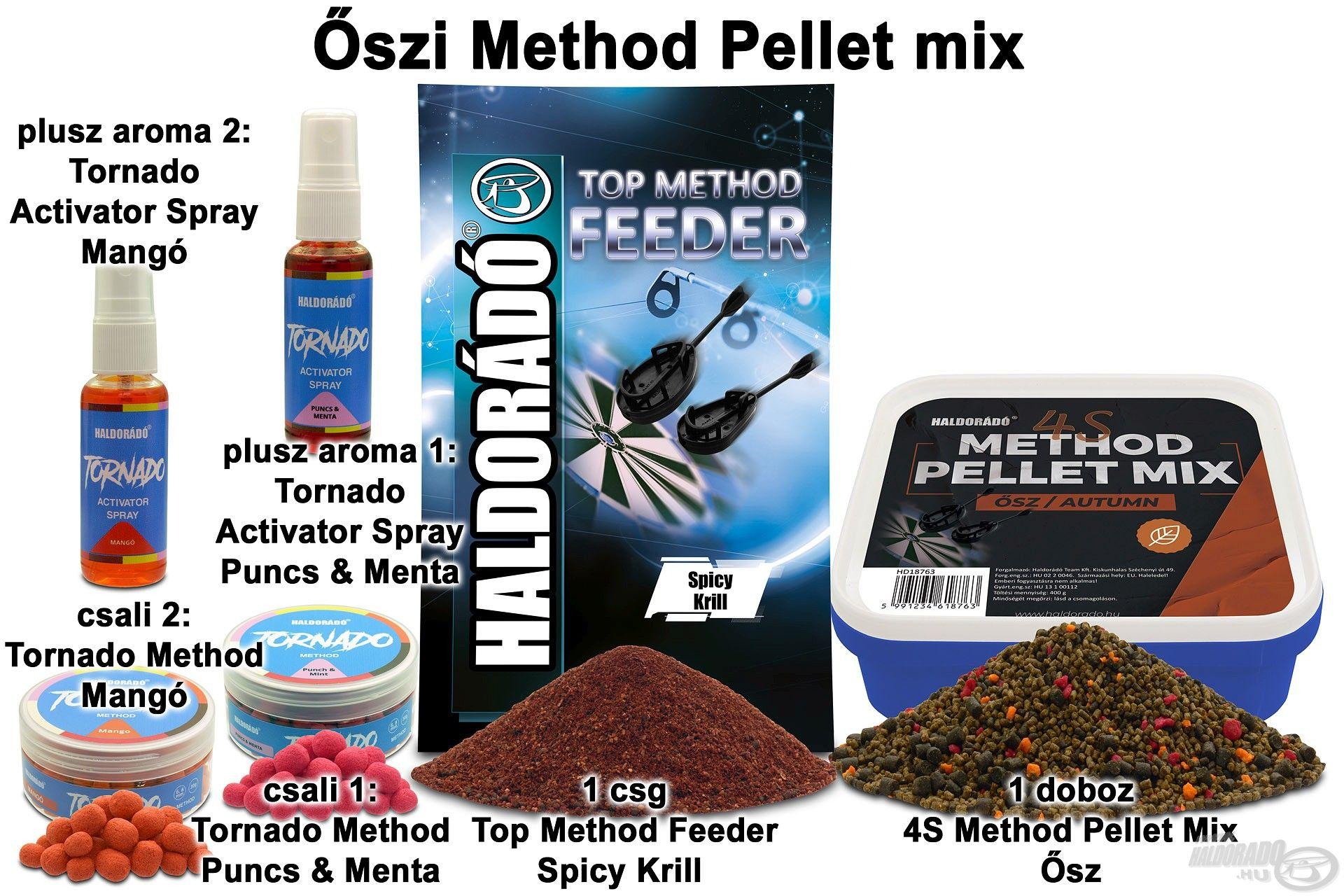 A Method Pellet Mixek felhasználhatók önmagukban, de akár keverékben is