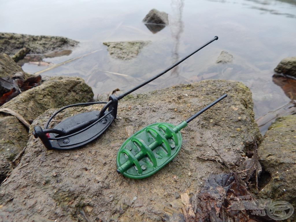 """Method Flat kosár, valamint egy klasszikusnak mondható """"töltögetős"""" method kosár. Már csak a halaknak szánt csemege hiányzik belőlük"""