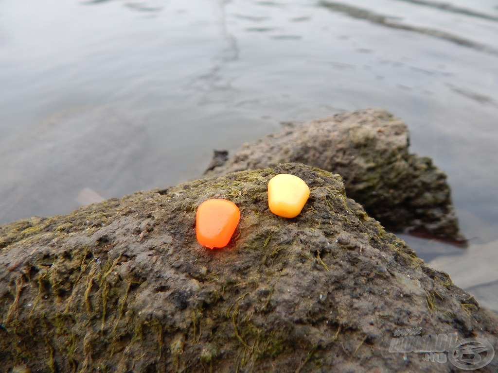 A Chilis Tintahalas SpéciCorn különlegessége a tégelyben található két színváltozat. Nemegyszer jártam úgy, hogy azonos ízben a narancssárga színű kukorica sokkal-sokkal fogósabbnak bizonyult!