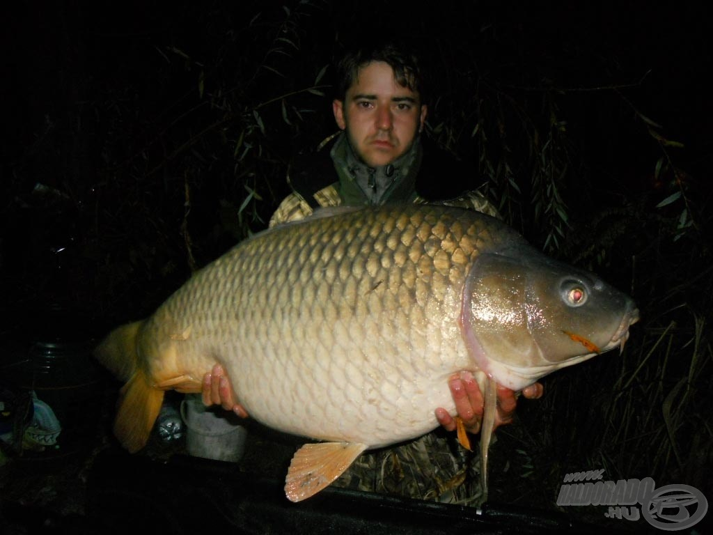 Ákos 17,50 kg-os halával