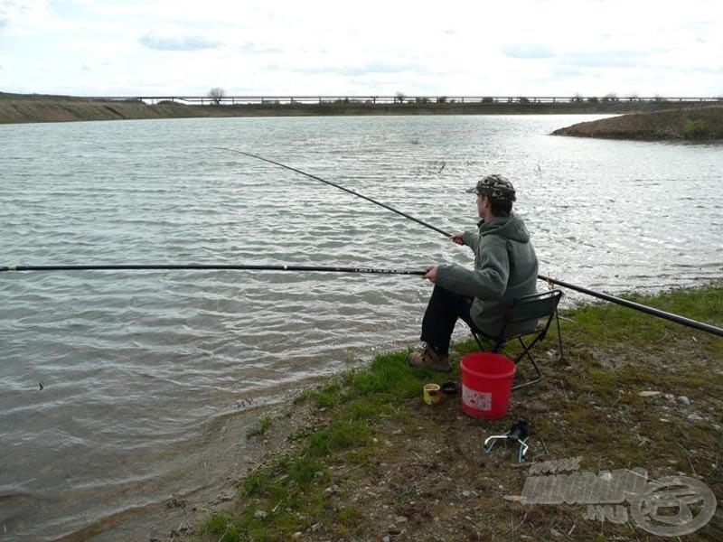 Végre halat fárasztok! Már nyúlok is a merítőért
