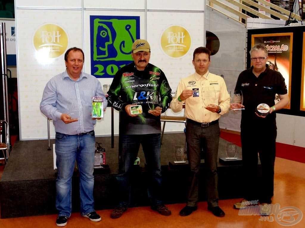 A kiállítás nagydíjait elnyert termékek és a győztes márkák képviselői