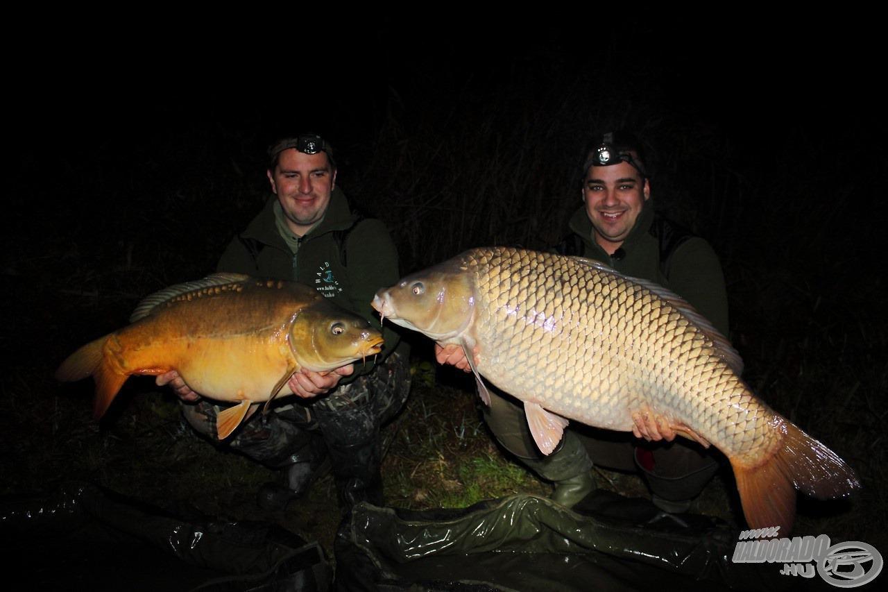 A Haskó Tamás - Kerekes Ernő duó éjjel-nappal áll a horgászok és a nagy pontyok rendelkezésére