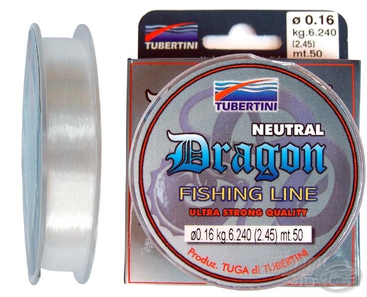 A Tubertini Dragon az egyik legkedveltebb horogelőke damil