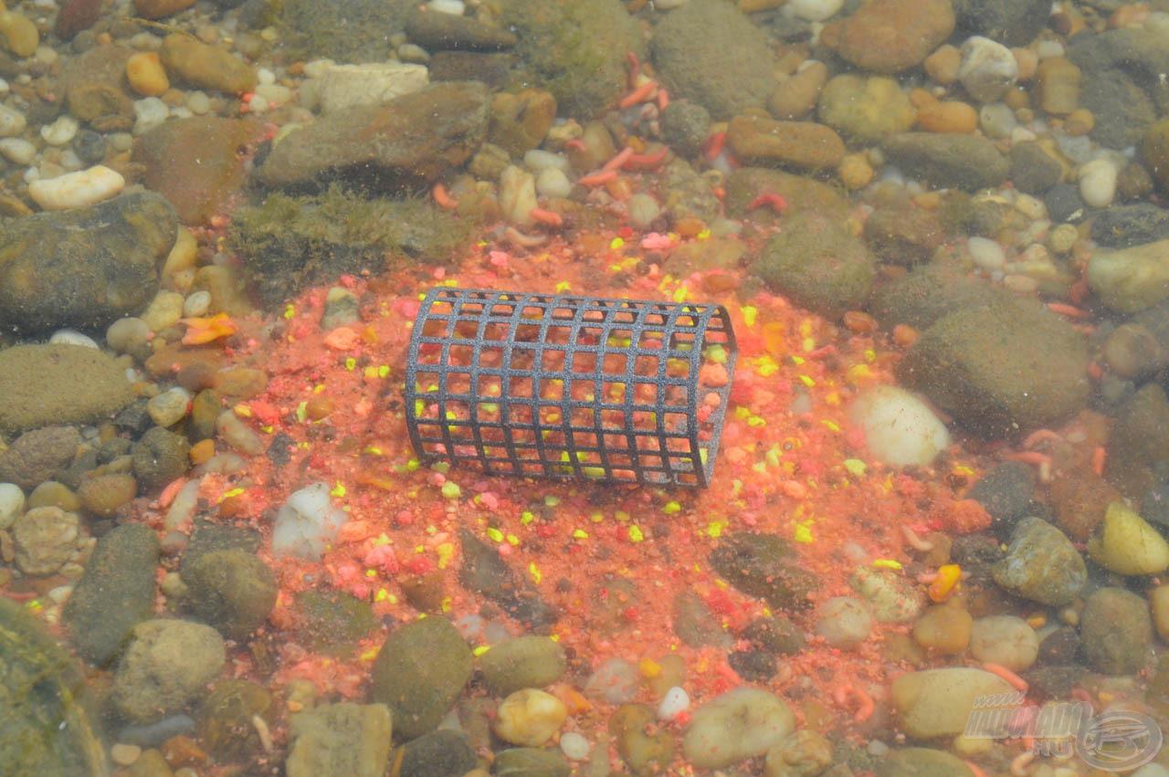A piros és sárga Fluo Morzsa nagyon élénk színű adalékanyag