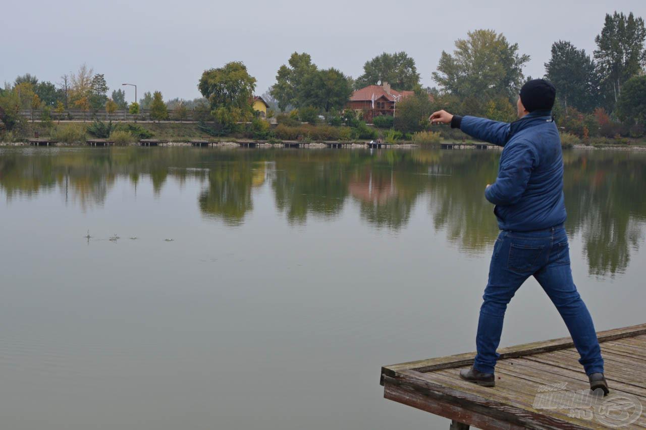 Közeli horgászatokhoz akár kézzel is be lehet dobni a pelleteket