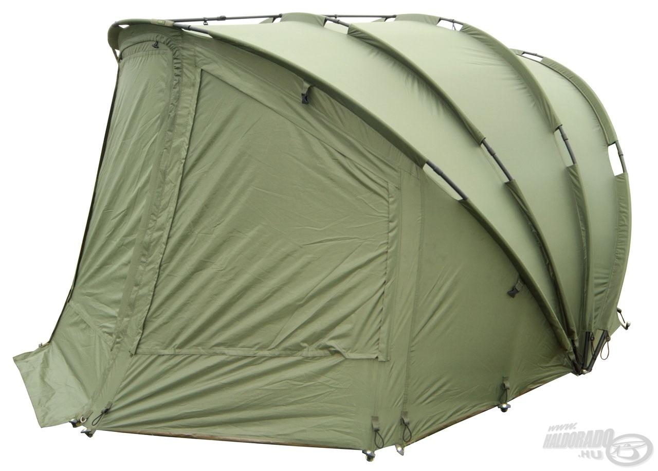 Ez a sátor remekül bírja a legnagyobb esőzéseket is, szinte kizárt, hogy beázzon