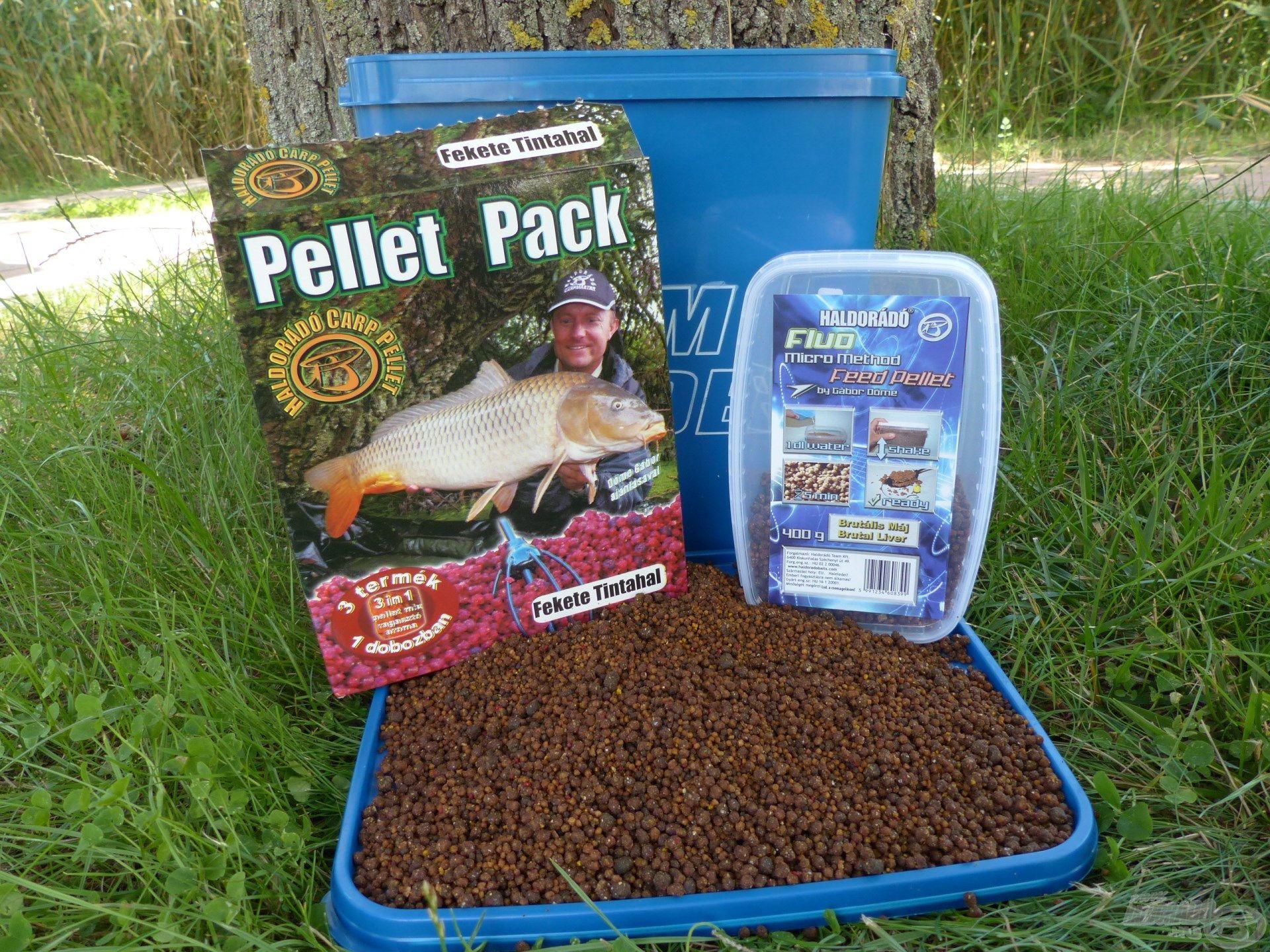800 g Pellet Pack Fekete Tintahal + 400 g FMMFP Brutális Máj keverékét használtam ezen a horgászaton