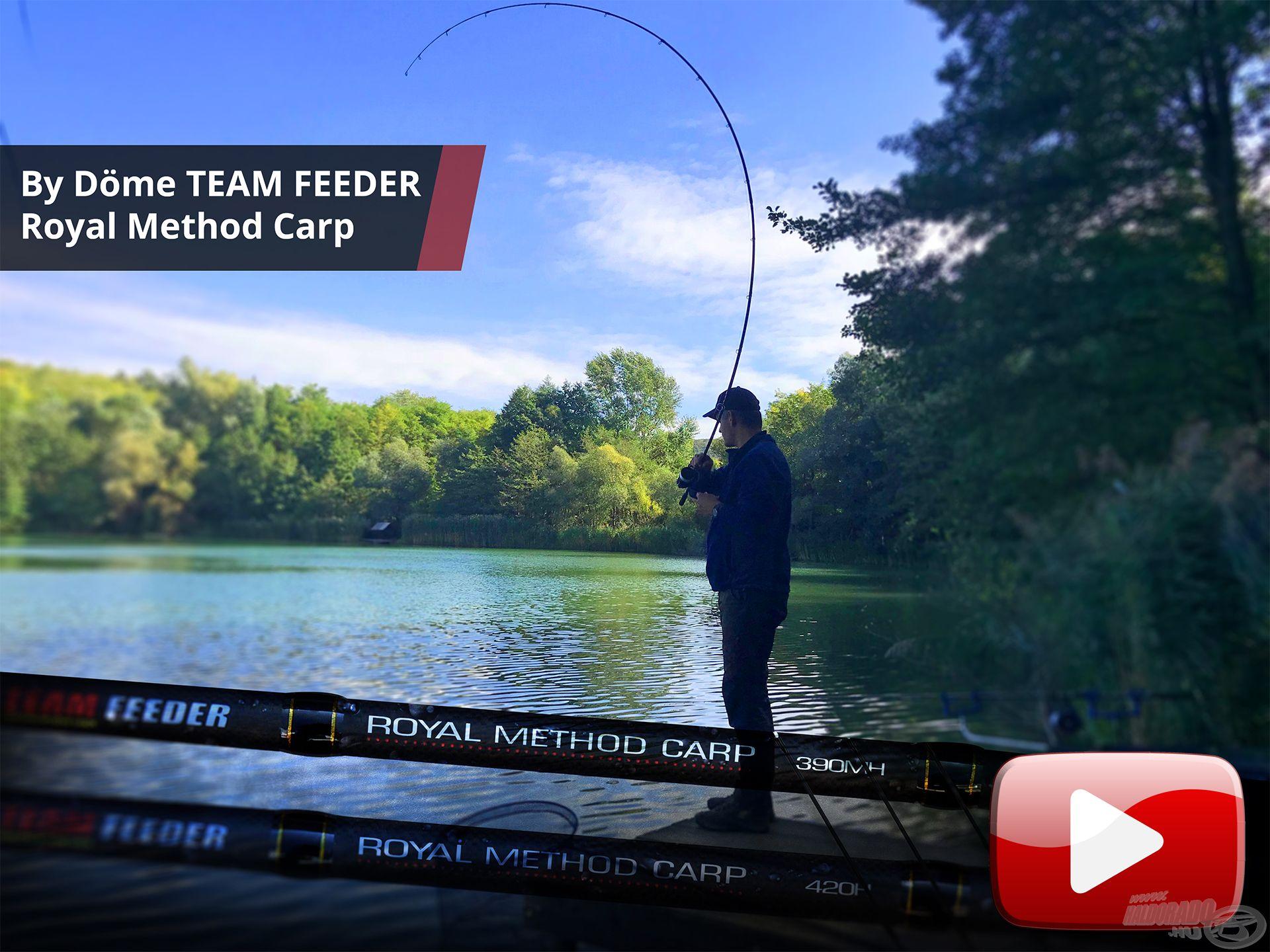 Akcióban a By Döme TEAM FEEDER Royal Method Carp feederbot 1. rész
